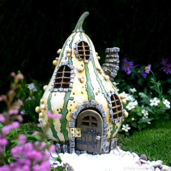 Maison de Fées Courge pour mini jardin