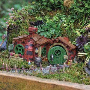 Maison de fées aux briques rouges Fairy Garden
