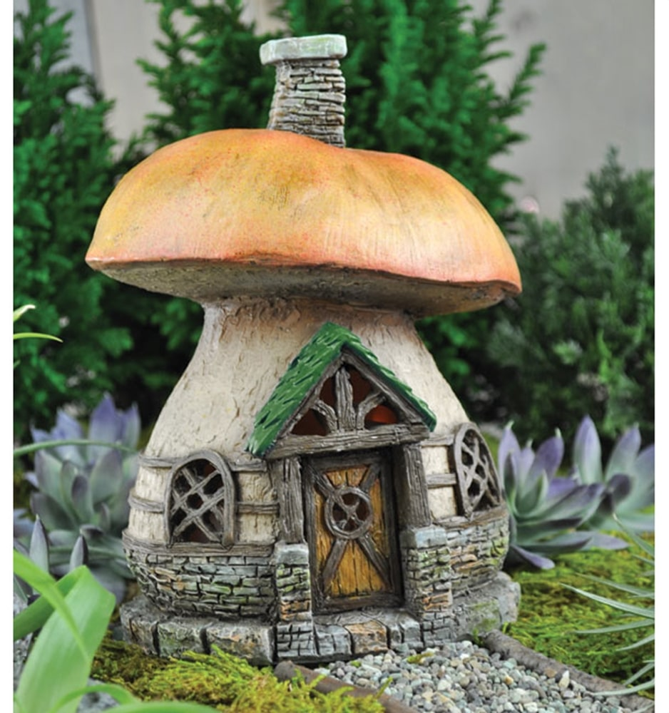 maison des f es champignon des bois fairy garden. Black Bedroom Furniture Sets. Home Design Ideas
