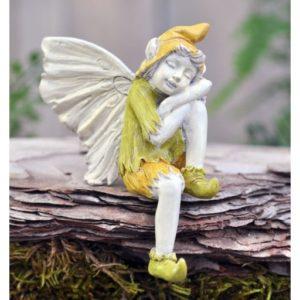 Figurine Miniature Fée Lutin Dormeur