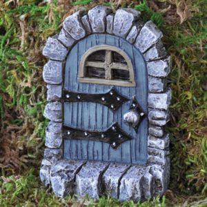 Porte de Fée Troll bleue pour jardin de fées
