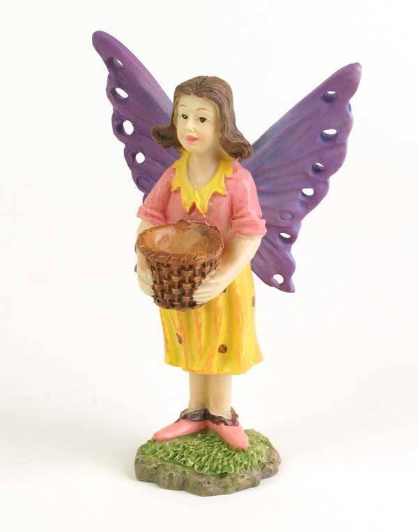 Figurine Miniature fée avec panier