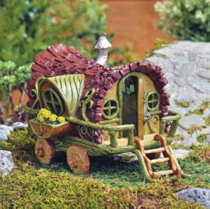 Maison de Fées Roulotte Gypsy Fairy Garden