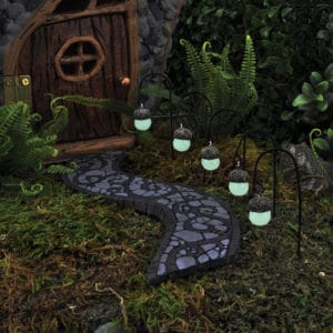 Lanternes noisettes lumineuses miniatures pour jardin de fées