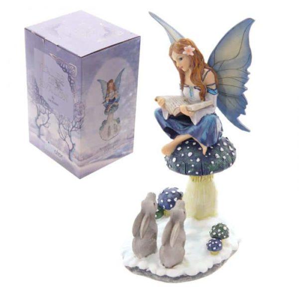 Figurine Fée Conteuse de L'Hiver Lisa Parker vue d'ensemble
