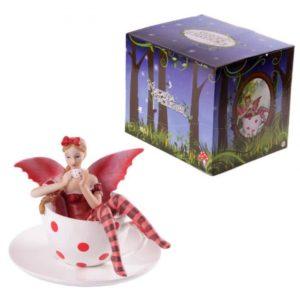 Statuette Fée Tasse de Thé Fairy Garden