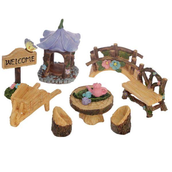 Mini accessoire de jardin de fées 9 éléments