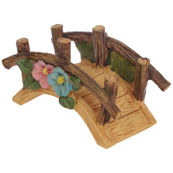 Mini accessoire de jardin de fées Pont