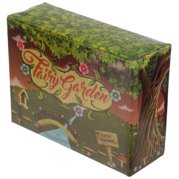 Mini accessoire de jardin de fées Boîte