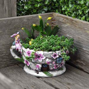 Jardinière tasse à thé motif fleur de cerisier