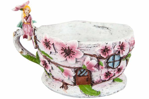 Jardinière tasse à thé féerique