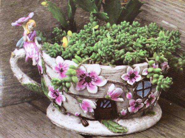 Jardinière tasse Mini Jardin Féerique