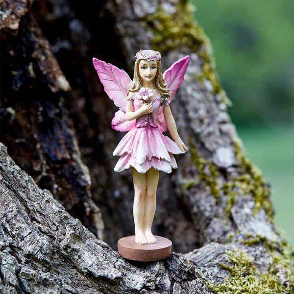 Figurine fée des forêts rose
