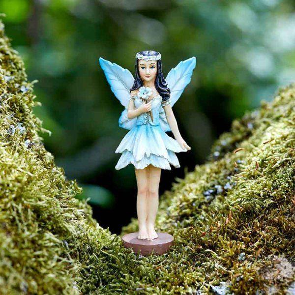 Figurine fée des forêts bleu