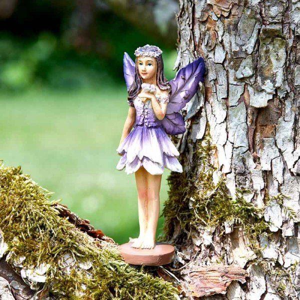 Figurine fée des forêts violet