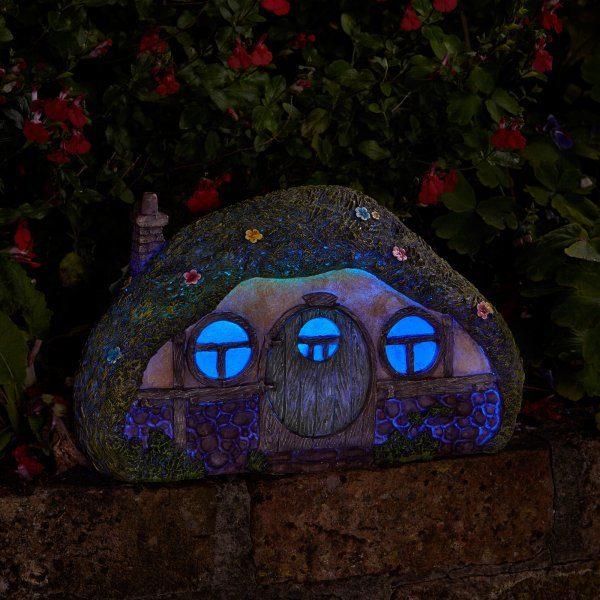 Maison de Hobbit éclairage solaire