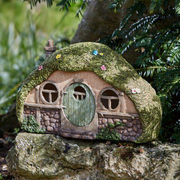 Maison de Hobbit Lumineuse à énergie solaire et LED