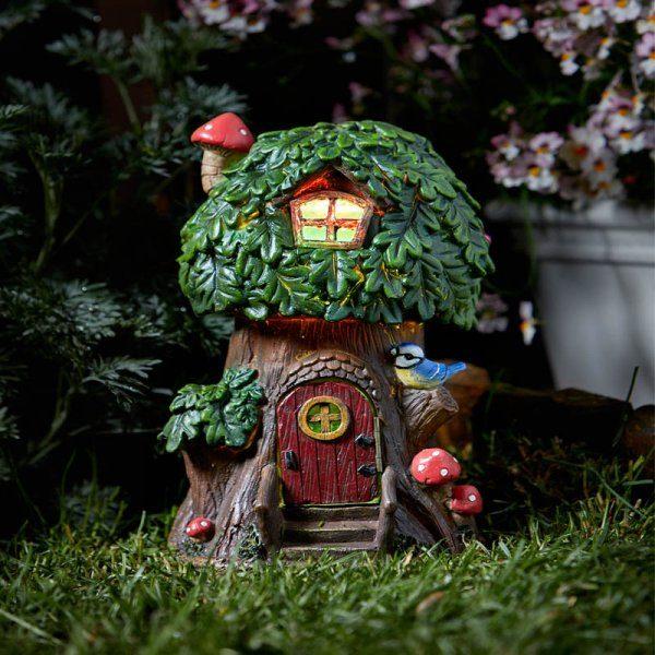 Maison de fées solaire chêne elfique