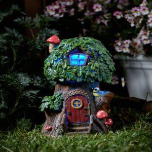 Maison de fées à énergie solaire Chêne Elfique