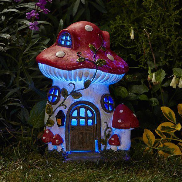 Maison de fées champignon solaire