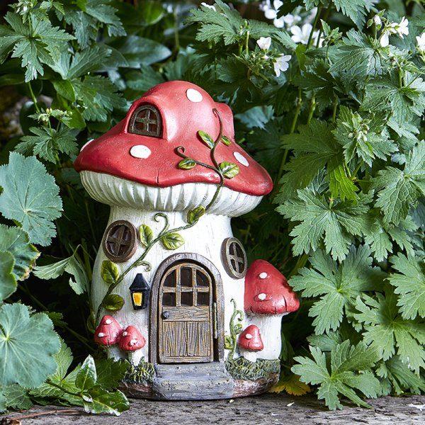 Maison champignon solaire féerique
