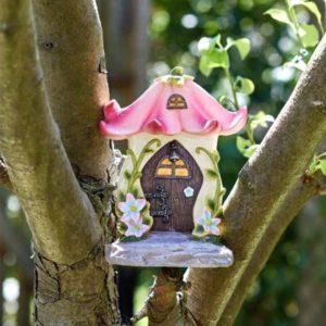 Porte de fée en forme de fleur pour maison et jardin