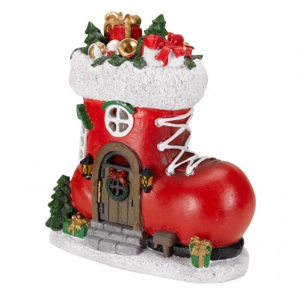 Botte de noël lumineuse LED maison miniature