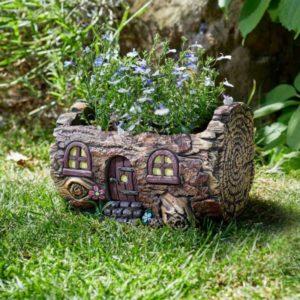 Jardinière pixie en forme de maison de fée pour plantes